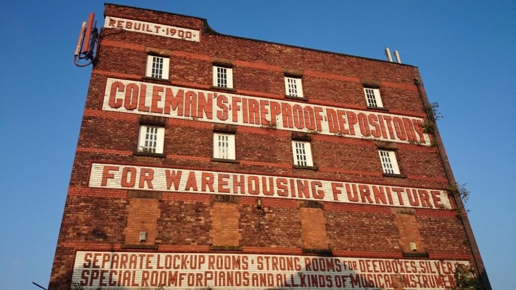 Coleman's Fireproof Depository Warehouse is being renovated into luxury apartments