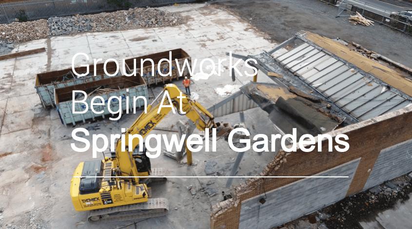 VIDEO TOUR | Springwell Gardens Groundworks Begin!